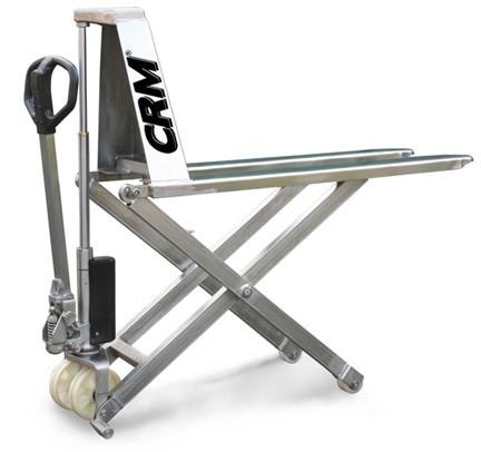 Transpallet pantografo manuale grande alzata SLP10 INOX